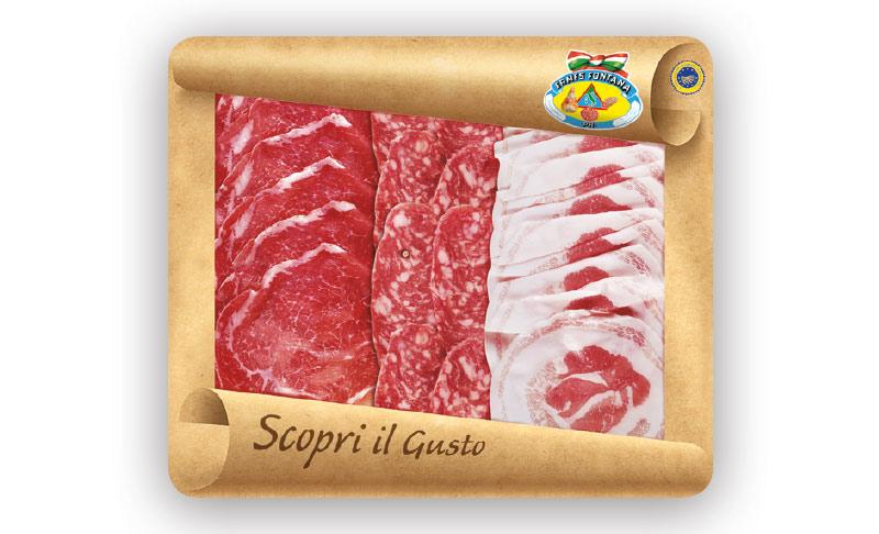 Antipasto di Salame, Coppa di Parma IGP e Pancetta arrotolata