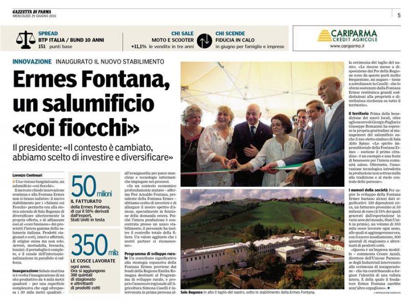 news salumificio fontana inaugurazione nuovo stabilimento