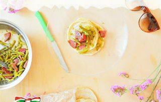 Salumificio Fontana Ermes pancake fagiolini e salame felino