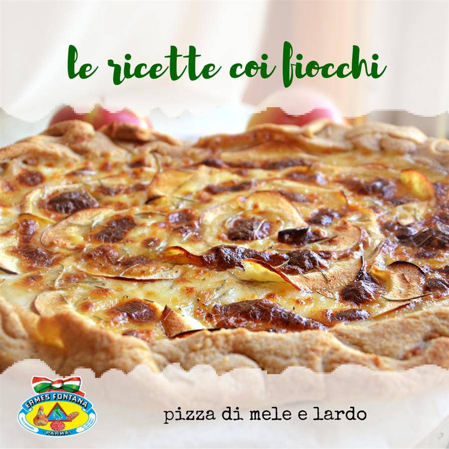 Salumificio Fontana Ermes ricetta pizza di mele e lardo