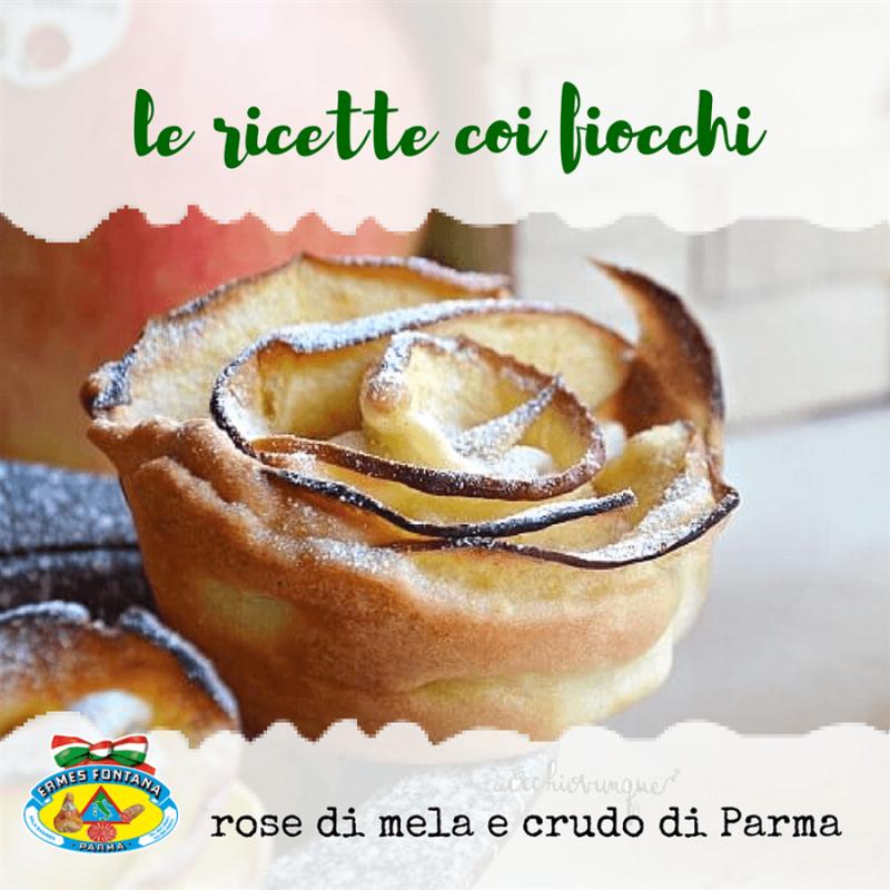Salumificio Fontana Ermes ricette Rose di Mela e crudo di Parma